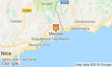 Map Menton One-room apartment 118636