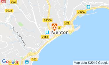 Map Menton One-room apartment 118636
