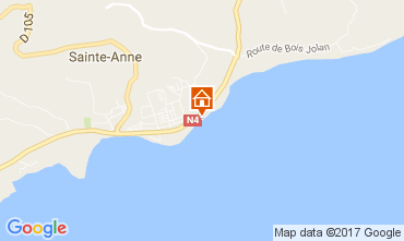 Map Sainte Anne (Guadeloupe) Apartment 108495