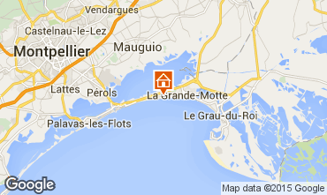 Map La Grande Motte Apartment 93299