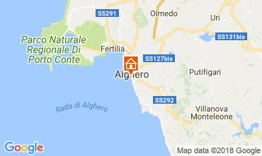Map Alghero Apartment 114227