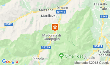 Map Madonna di Campiglio Apartment 116987