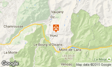 Map Alpe d'Huez One-room apartment 66533