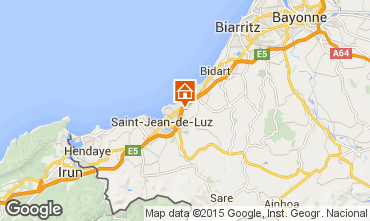 Map Saint Jean de Luz Apartment 97030