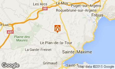 Map Saint Tropez Villa 87387