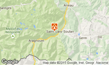 Map Saint Lary Soulan Apartment 88678