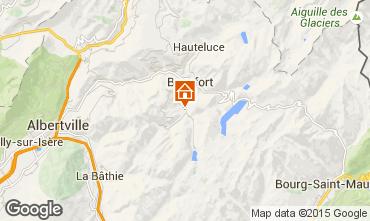 Map Areches Beaufort Chalet 79429