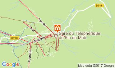 Map La Mongie Apartment 4287