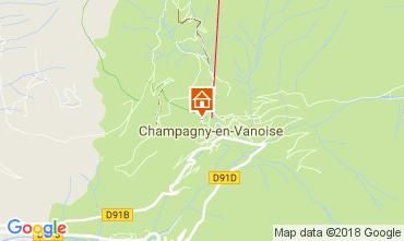 Map Champagny en Vanoise One-room apartment 112836