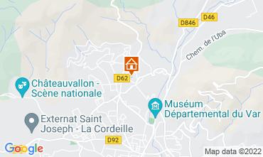 Map Toulon Apartment 75600