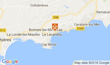 Map Le Lavandou One-room apartment 17211