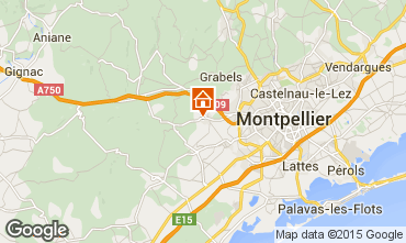 Map Montpellier Villa 85047