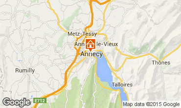 Map Annecy Vacation rental 94014