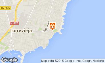 Map Torrevieja Apartment 55632