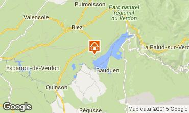 Map Sainte-Croix-du-Verdon Vacation rental 86894