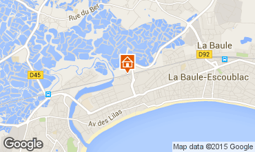 Map La Baule One-room apartment 61801