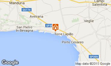 Map Porto Cesareo Apartment 61664