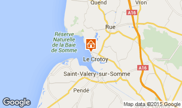 Map Le Crotoy Apartment 95400