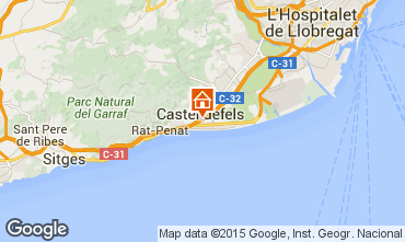Map Casteldefels Apartment 59696