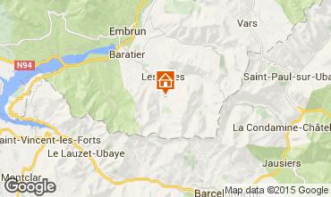Map Les Orres Apartment 16050