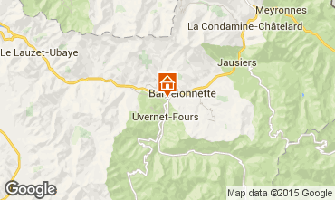 Map Barcelonnette One-room apartment 57041