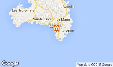 Map Sainte Anne (Martinique) One-room apartment 84570