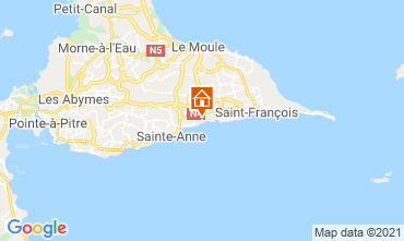 Map Sainte Anne (Guadeloupe) Vacation rental 15292