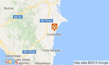 Map Costa Rei Apartment 68890