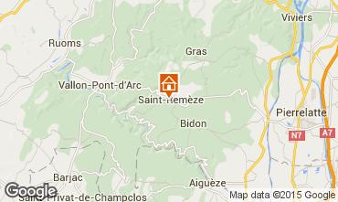 Map Vallon-Pont-D'Arc Mobile home 23563