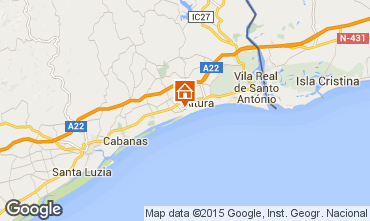 Map Vila Real de Santo Antonio Apartment 63105