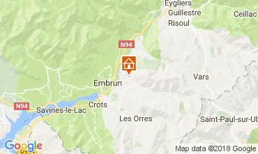 Map Embrun Bungalow 113012
