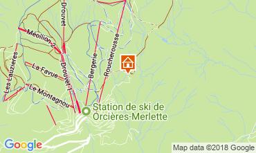 Map Orcières Merlette Chalet 115606