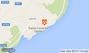 Map Santa Cesarea Terme One-room apartment 98187