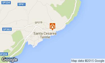 Map Santa Cesarea Terme One-room apartment 98187