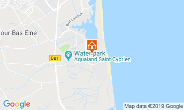 Map Saint Cyprien Apartment 119289