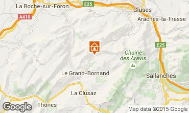 Map Le Grand Bornand Apartment 1370