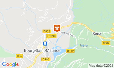 Map Les Arcs One-room apartment 129