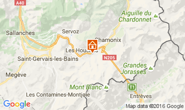 Map Chamonix Mont-Blanc Chalet 106440