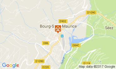 Map Bourg saint Maurice One-room apartment 111638