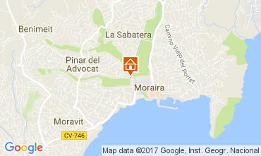 Map Moraira Villa 50670