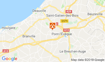 Map Deauville Bed and breakfast 118008