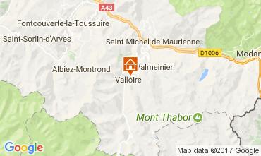 Map Valloire Apartment 107444