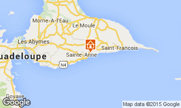 Map Sainte Anne (Guadeloupe) Vacation rental 27568