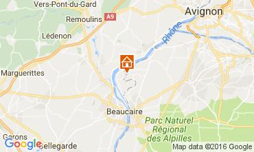 Map Avignon Vacation rental 101978