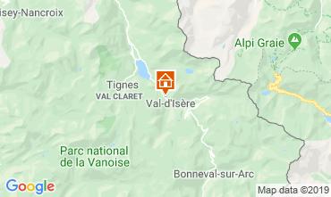 Map Val d'Isère Apartment 3354
