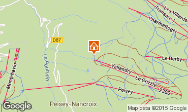 Map Peisey-Vallandry Apartment 93854
