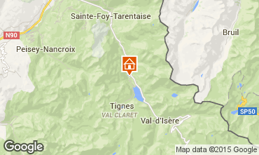 Map Tignes Chalet 3083