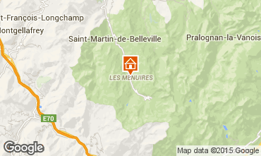 Map Les Menuires Apartment 42285