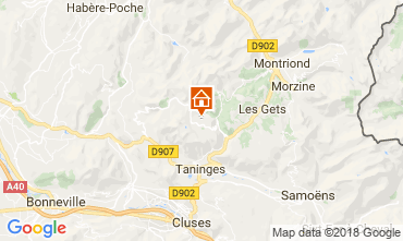 Map Praz de Lys Sommand One-room apartment 2366