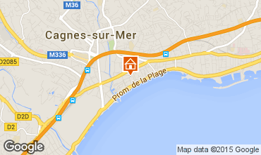 Map Cagnes sur Mer One-room apartment 97503